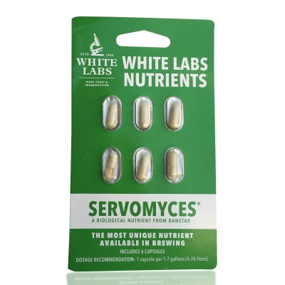 Whitelabs Servomyces 6 kapsler
